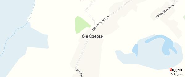 Карта деревни Озерки 6-е в Новосибирской области с улицами и номерами домов