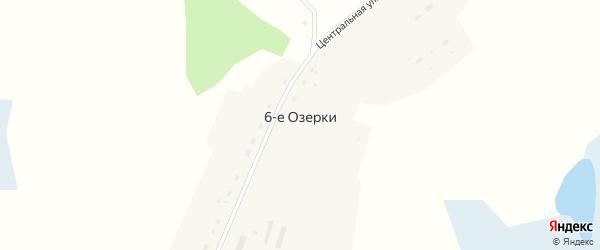 Центральный переулок на карте деревни Озерки 6-е Новосибирской области с номерами домов