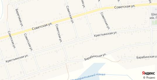 Крестьянская улица в Каргате с номерами домов на карте. Спутник и схема онлайн