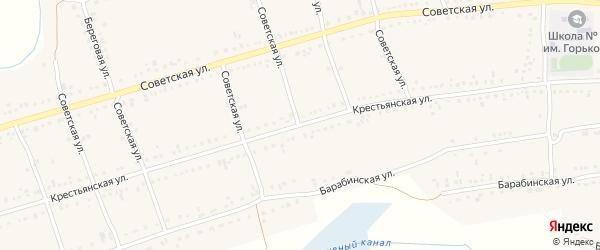 Крестьянская улица на карте Каргата с номерами домов