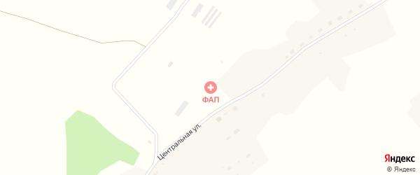 Малая Центральная улица на карте деревни Озерки 6-е Новосибирской области с номерами домов