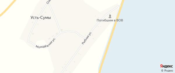 Рыбная улица на карте села Усть-Сумы Новосибирской области с номерами домов