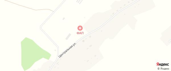 Центральная улица на карте деревни Озерки 6-е Новосибирской области с номерами домов