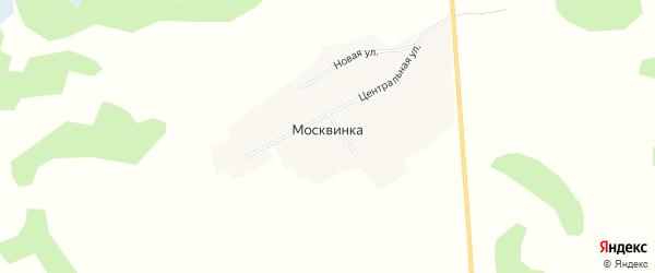 Карта поселка Москвинки в Новосибирской области с улицами и номерами домов