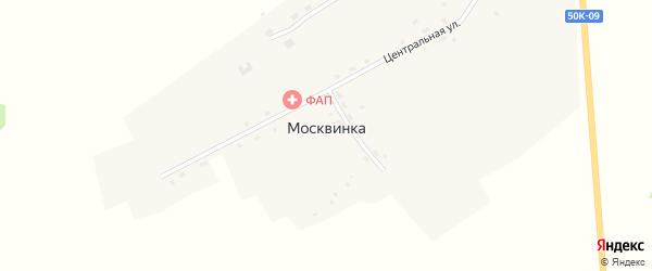Песочная улица на карте поселка Москвинки Новосибирской области с номерами домов