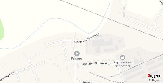 Промышленная улица в Каргате с номерами домов на карте. Спутник и схема онлайн