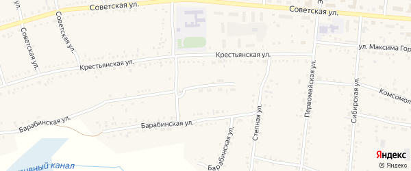 Переулок Строителей на карте Каргата с номерами домов