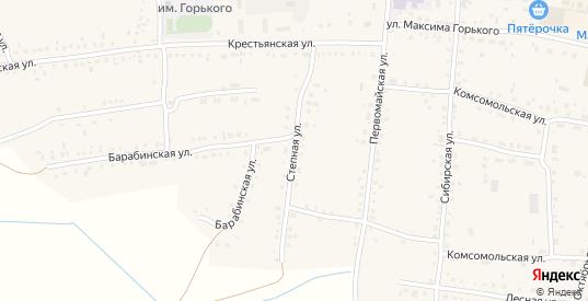 Степная улица в Каргате с номерами домов на карте. Спутник и схема онлайн