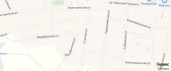 Степная улица на карте Каргата с номерами домов