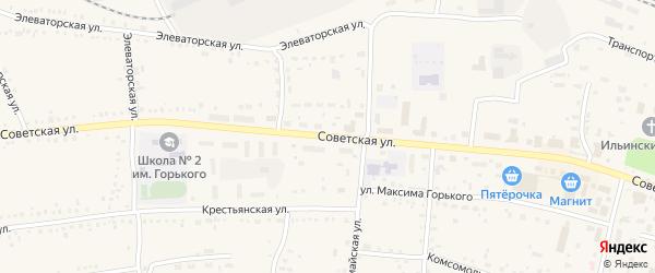 Советская улица на карте Каргата с номерами домов