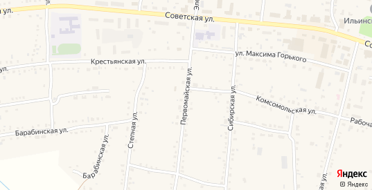 Первомайская улица в Каргате с номерами домов на карте. Спутник и схема онлайн
