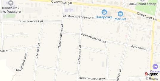 Сибирская улица в Каргате с номерами домов на карте. Спутник и схема онлайн