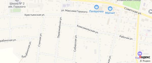 Сибирская улица на карте Каргата с номерами домов