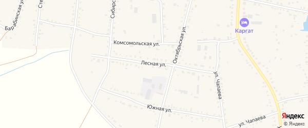 Лесная улица на карте Каргата с номерами домов