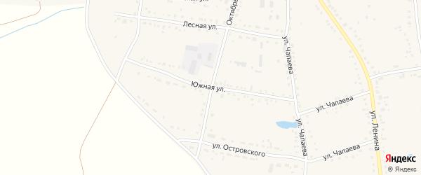 Южная улица на карте Каргата с номерами домов