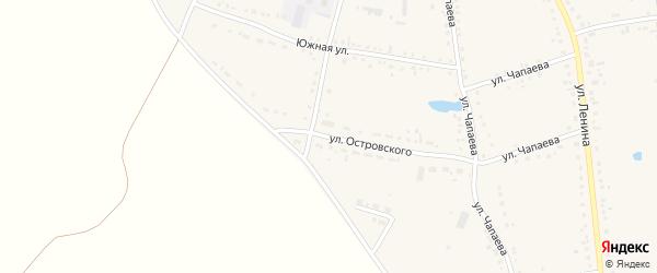Улица Островского на карте Каргата с номерами домов