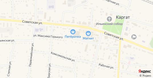 Улица Максима Горького в Каргате с номерами домов на карте. Спутник и схема онлайн