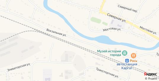 Вокзальная улица в Каргате с номерами домов на карте. Спутник и схема онлайн