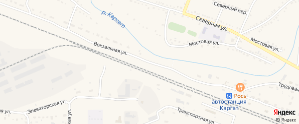 Вокзальная улица на карте Каргата с номерами домов