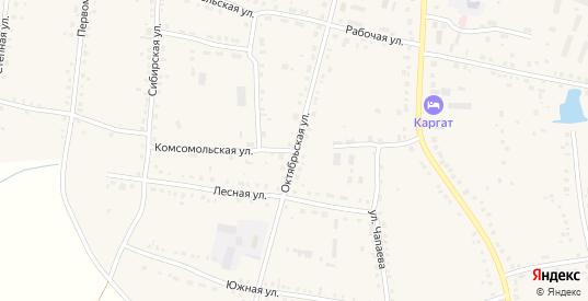 Октябрьская улица в Каргате с номерами домов на карте. Спутник и схема онлайн