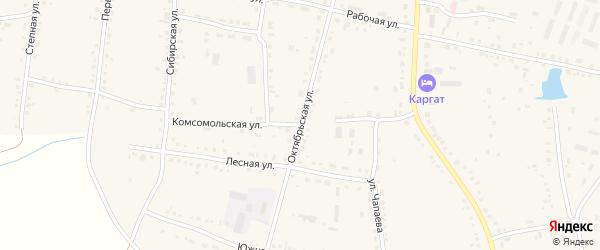 Октябрьская улица на карте Каргата с номерами домов