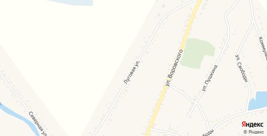 Луговая улица в Каргате с номерами домов на карте. Спутник и схема онлайн