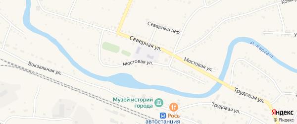 Мостовая улица на карте Каргата с номерами домов