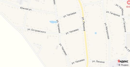 Улица Чапаева в Каргате с номерами домов на карте. Спутник и схема онлайн