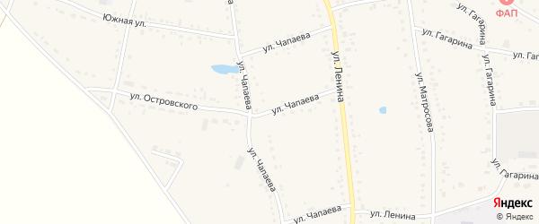 Улица Чапаева на карте Каргата с номерами домов
