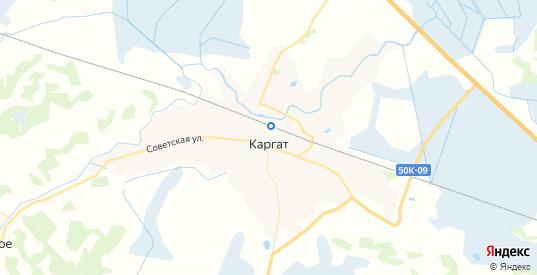 Карта Каргата с улицами и домами подробная. Показать со спутника номера домов онлайн