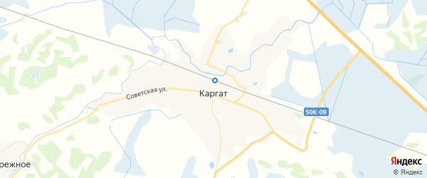 Карта Каргата с районами, улицами и номерами домов