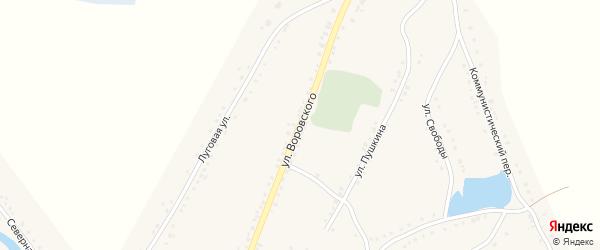 Улица Воровского на карте Каргата с номерами домов