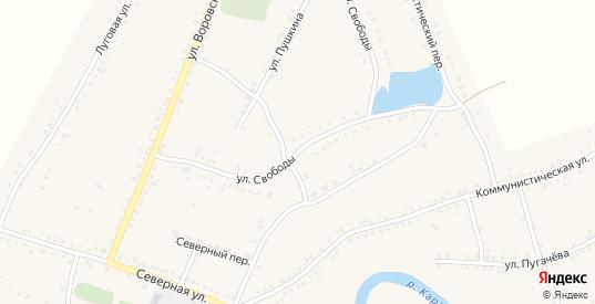 Улица Свободы в Каргате с номерами домов на карте. Спутник и схема онлайн