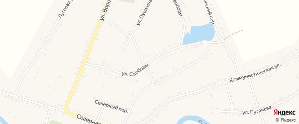 Улица Свободы на карте Каргата с номерами домов