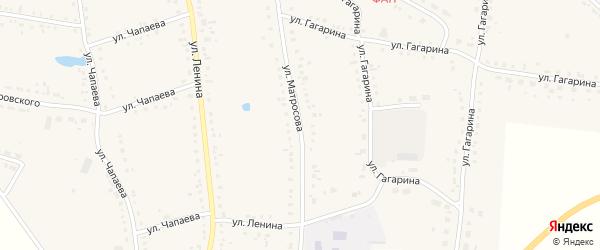 Улица Матросова на карте Каргата с номерами домов