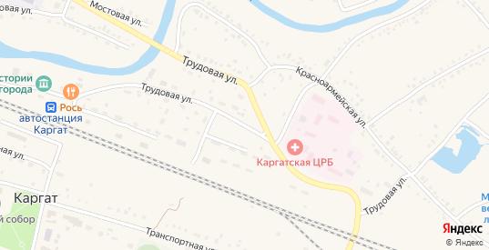 Трудовая улица в Каргате с номерами домов на карте. Спутник и схема онлайн