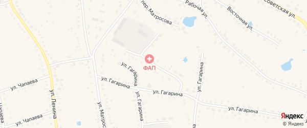Юбилейная улица на карте Каргата с номерами домов