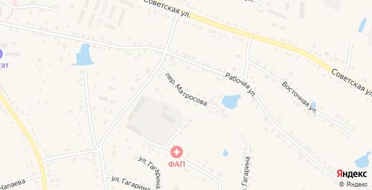 Переулок Матросова в Каргате с номерами домов на карте. Спутник и схема онлайн