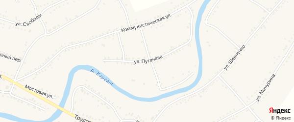 Улица Пугачева на карте Каргата с номерами домов