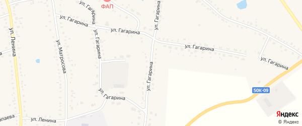 Улица Гагарина на карте Каргата с номерами домов
