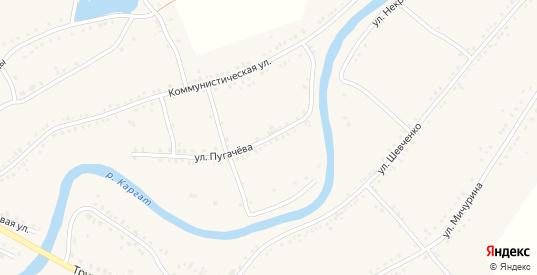 Улица Пугачева в Каргате с номерами домов на карте. Спутник и схема онлайн