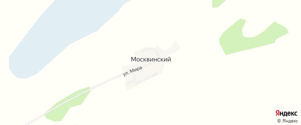 Карта Москвинского поселка в Новосибирской области с улицами и номерами домов
