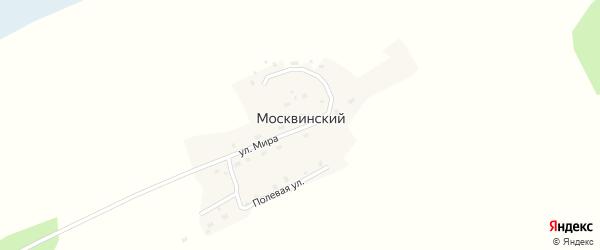 Улица Мира на карте Москвинского поселка Новосибирской области с номерами домов