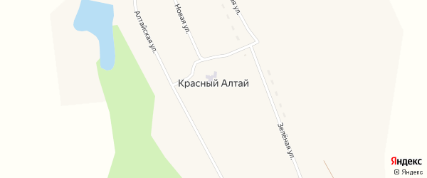 Алтайская улица на карте поселка Красного Алтая с номерами домов