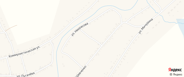 Улица Некрасова на карте Каргата с номерами домов