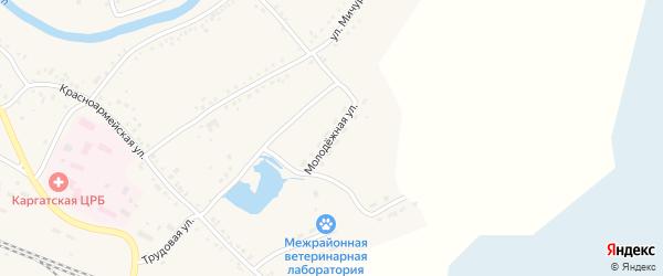 Молодежная улица на карте Каргата с номерами домов