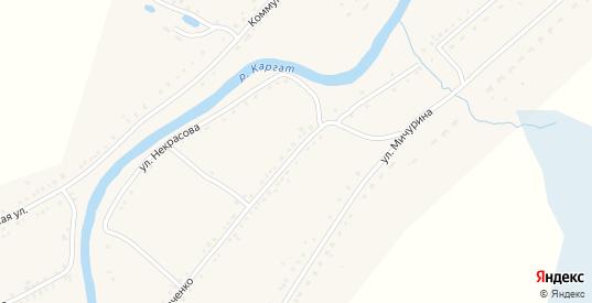 Улица Шевченко в Каргате с номерами домов на карте. Спутник и схема онлайн
