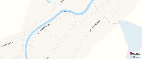 Улица Шевченко на карте Каргата с номерами домов