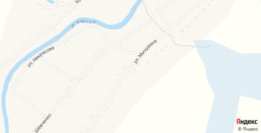 Улица Мичурина в Каргате с номерами домов на карте. Спутник и схема онлайн