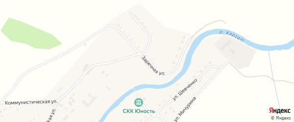 Заречная улица на карте Каргата с номерами домов